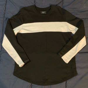 Black long sleeve w/ a white stripe (Forever 21)
